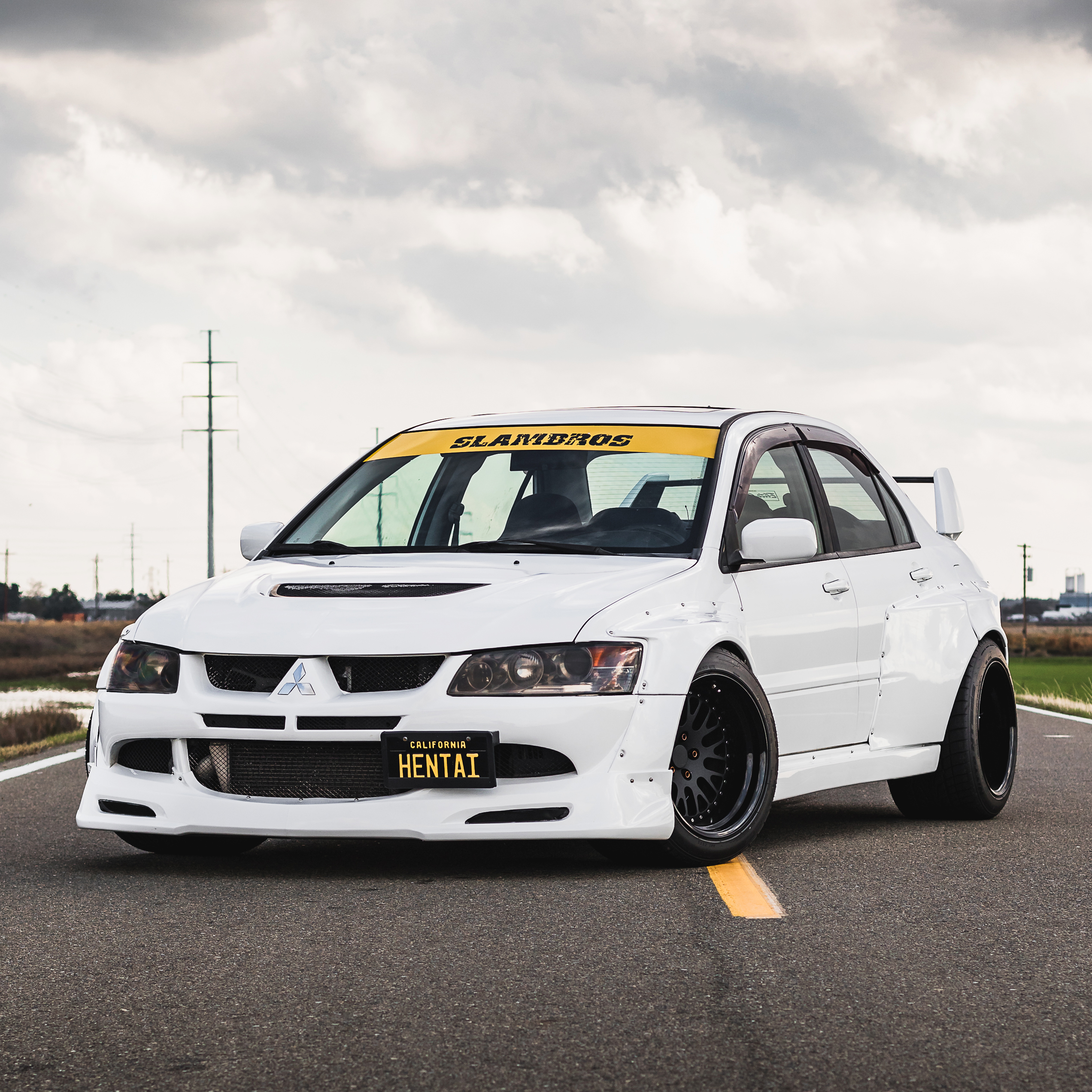 Mitsubishi Lancer Evo 1: Mitsubishi Evolution Widebody Kit By Clinched