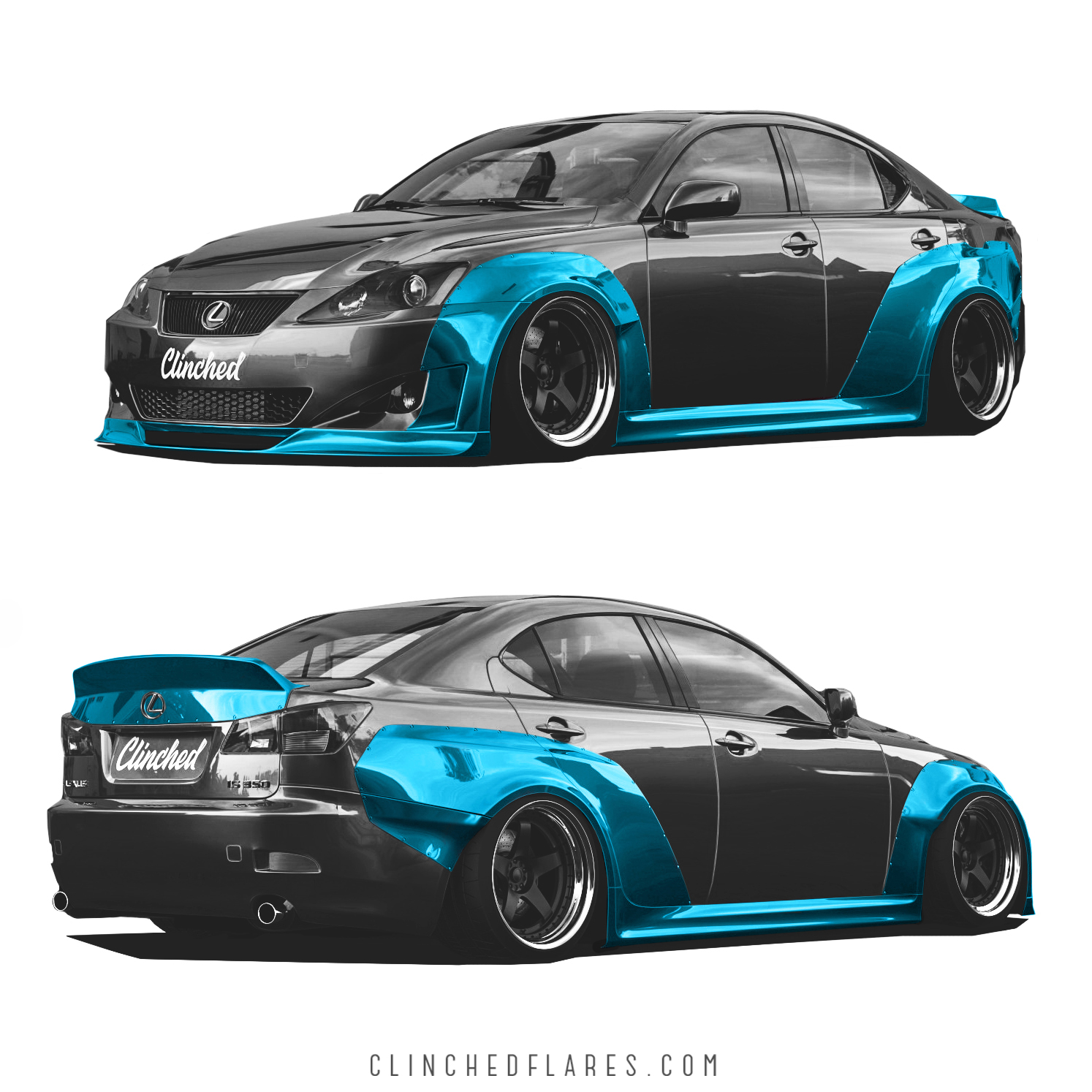 2008 Lexus Is350 Custom >> Lexus IS250 IS350 widebody kit by Clinched Flares