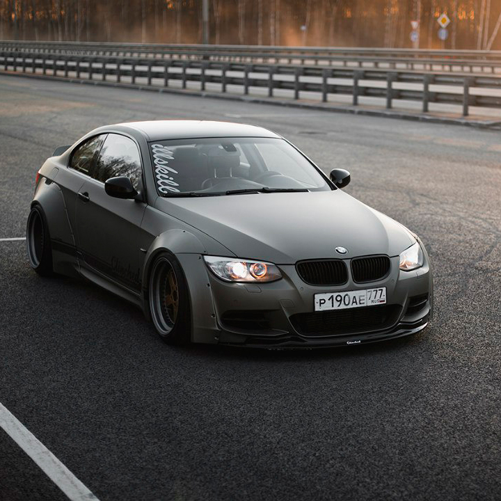 Bmw E92 Widebody Kit By Clinched In Durable Abs Plastic