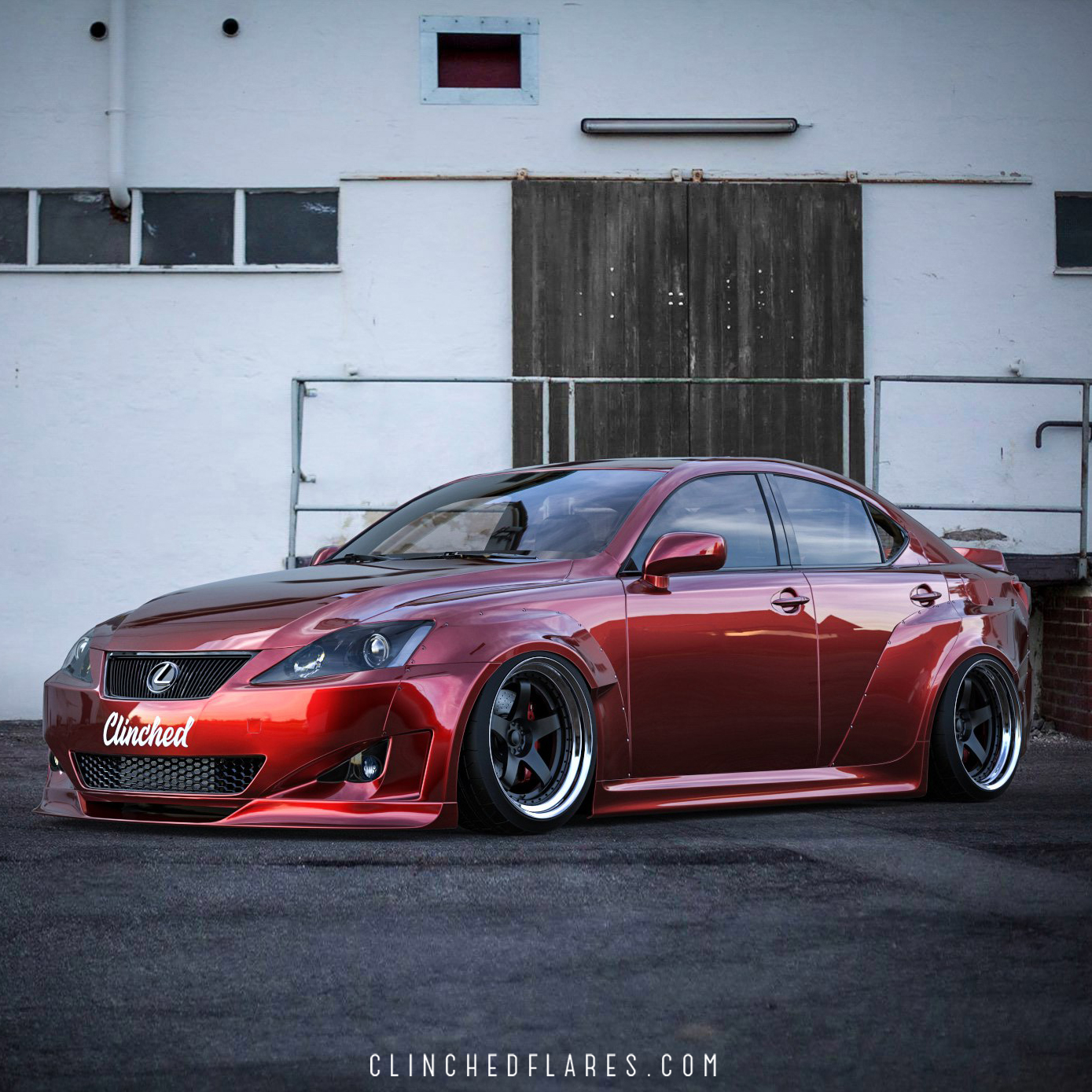 lexus is250 is350 widebody kit by clinched flares. Black Bedroom Furniture Sets. Home Design Ideas
