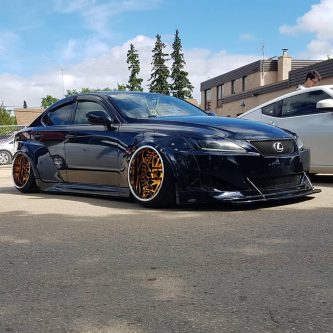 widebody slammed Lexus