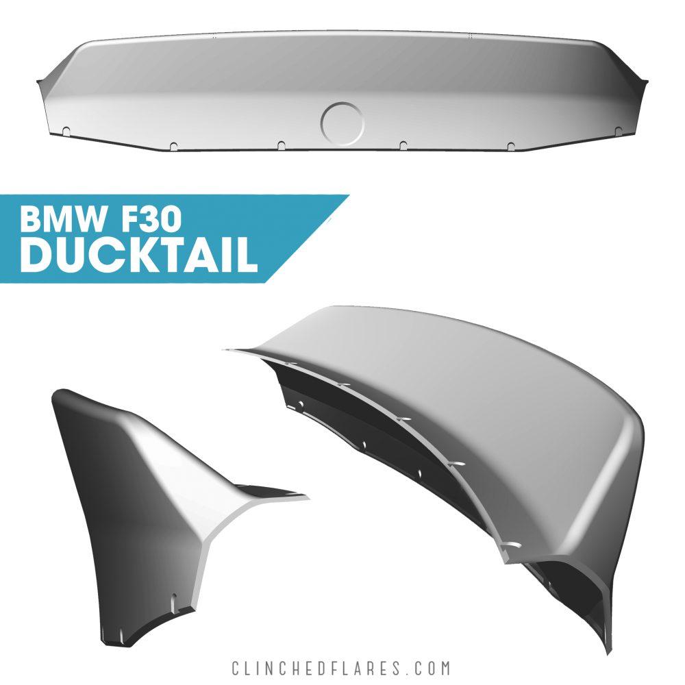 BMW 3-series F30 Ducktail Spoiler