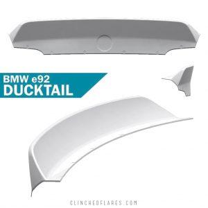 BMW E92 ducktail spoiler