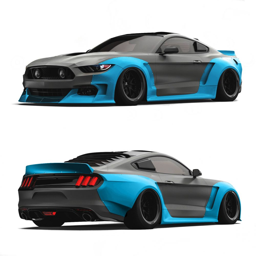 ford mustang widebody kit s550 wide body kit by clinched. Black Bedroom Furniture Sets. Home Design Ideas