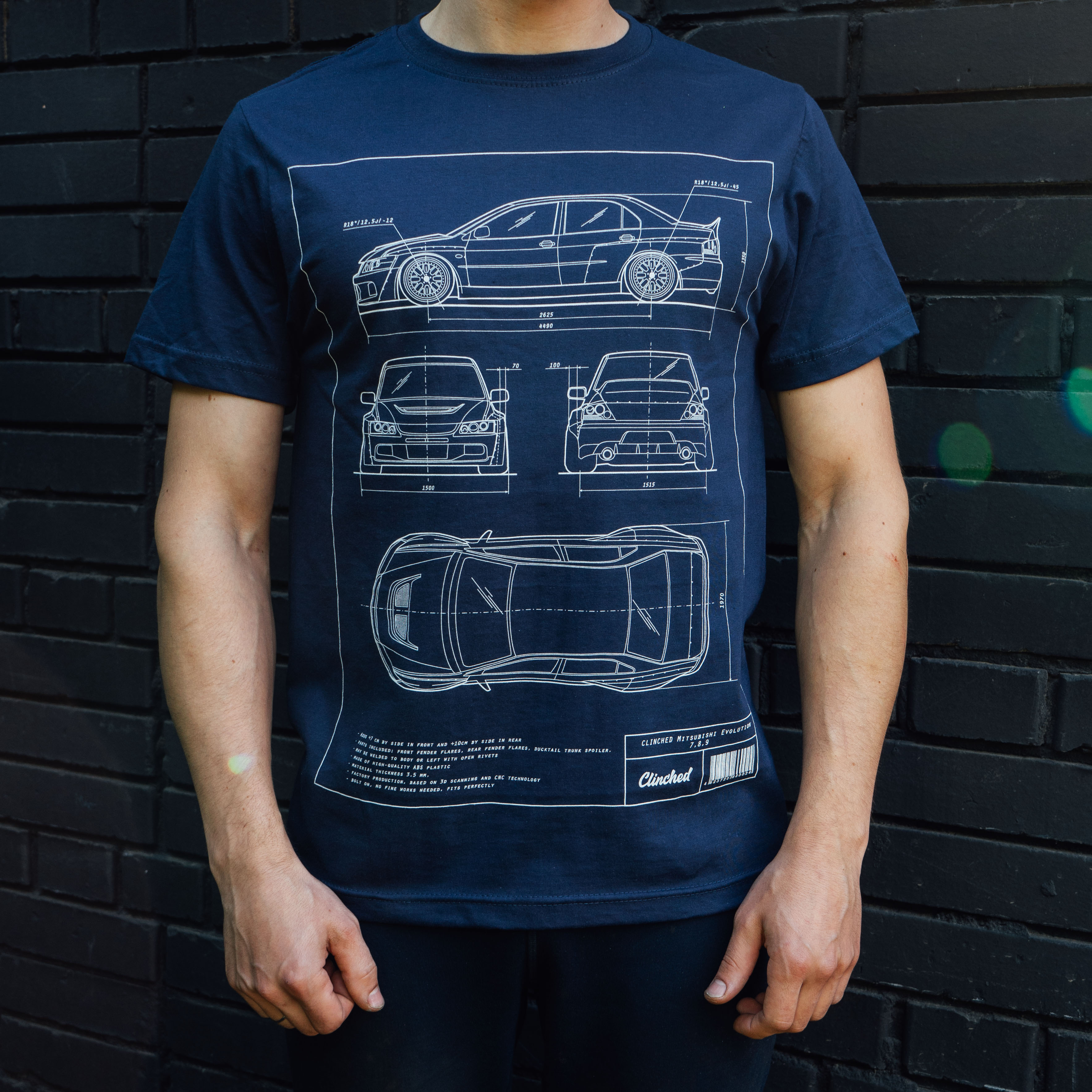 Mitsubishi evo blueprint t shirt clinched flares and widebody kits malvernweather Choice Image