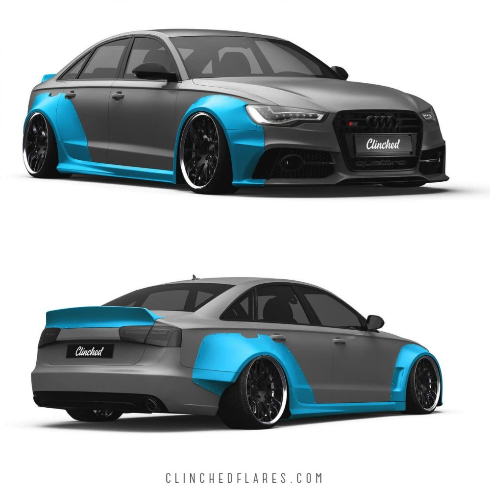 Audi A6 C7 Widebody Kit S6 RS6 C7 Wide Body Kit By Clinched