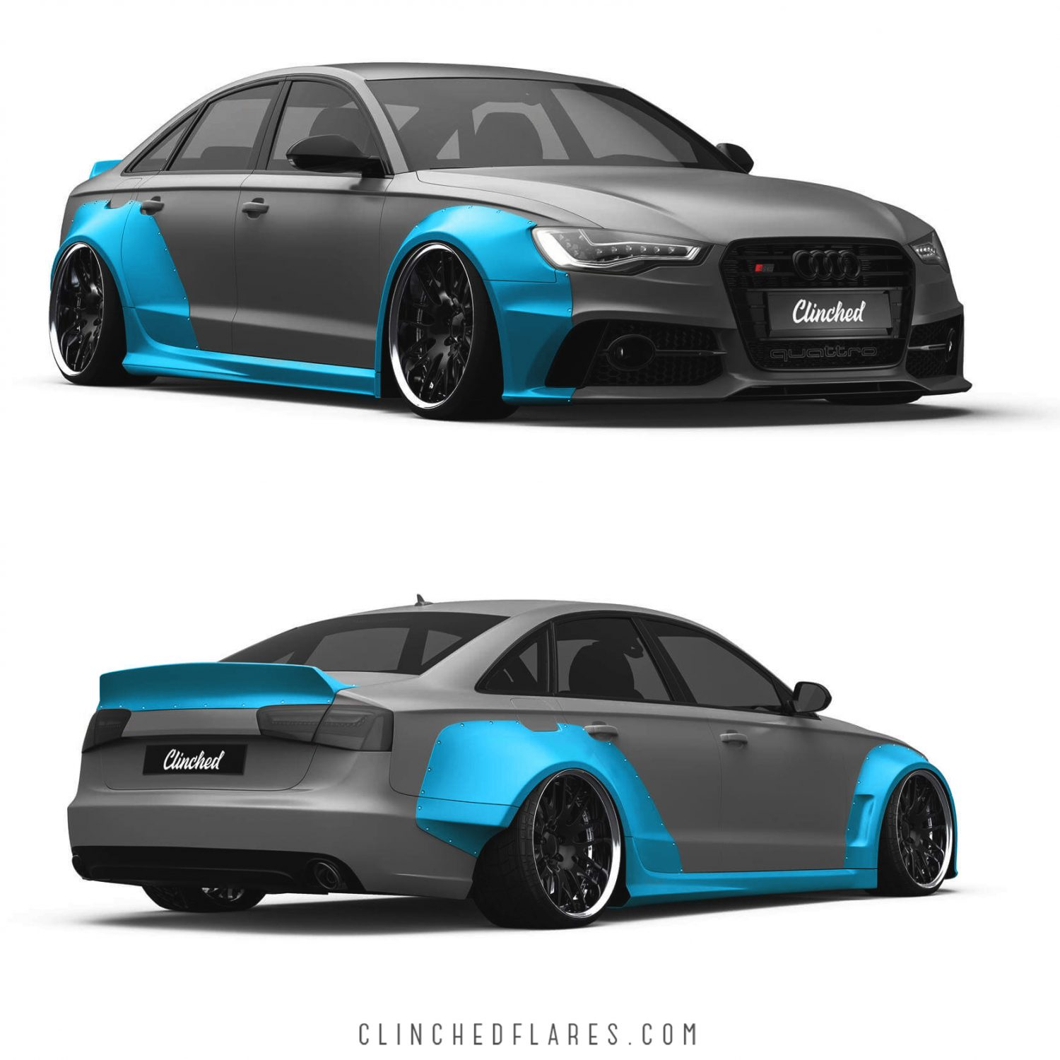 audi a6 c7 widebody kit s6 rs6 c7 wide body kit by clinched. Black Bedroom Furniture Sets. Home Design Ideas