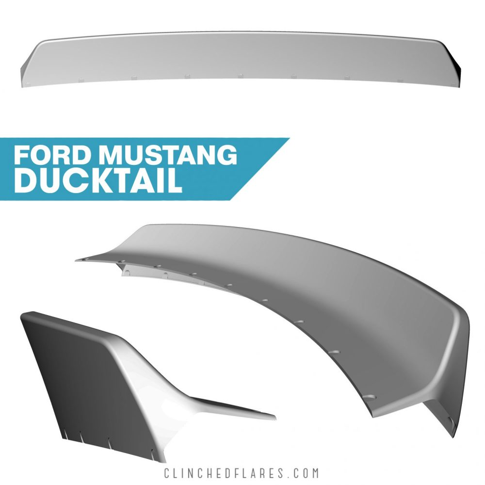 Ford Mustang S550 Ducktail Spoiler