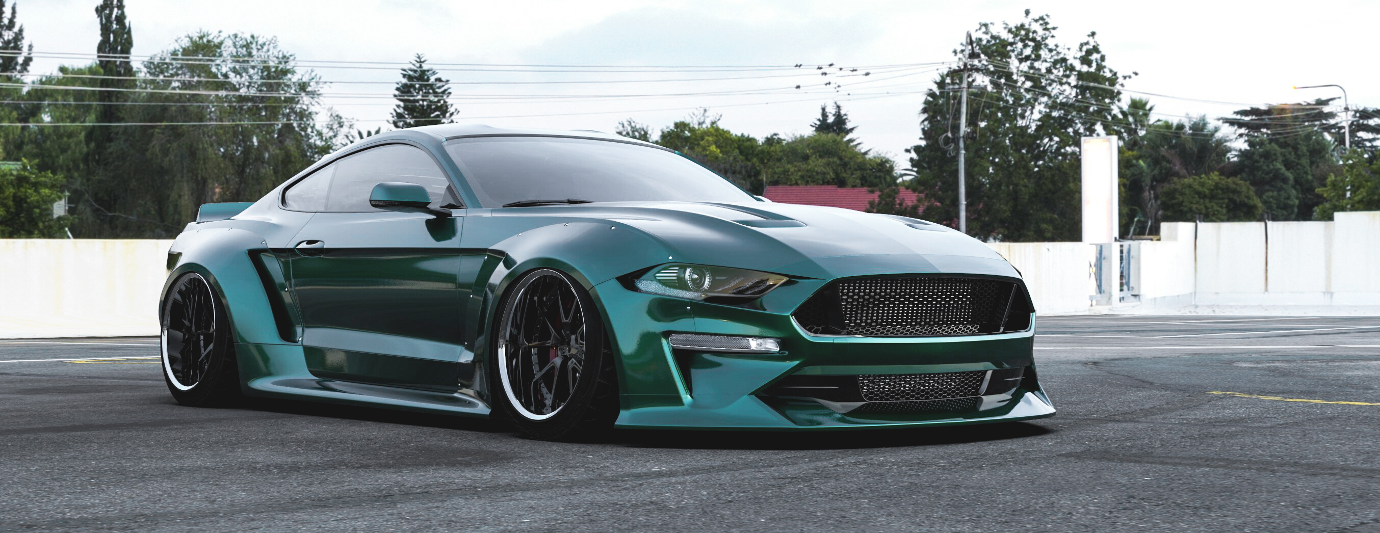 Ford Mustang Ecoboost >> 2018 Ford Mustang widebody kit, fits 2018+ Ford Mustang GT, EcoBoost